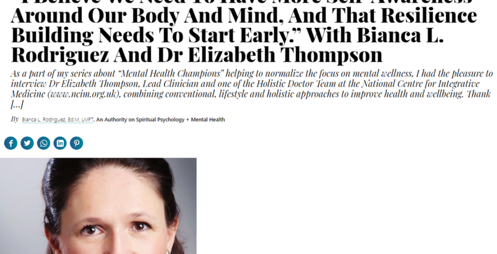 elizabeth thompson thrive global