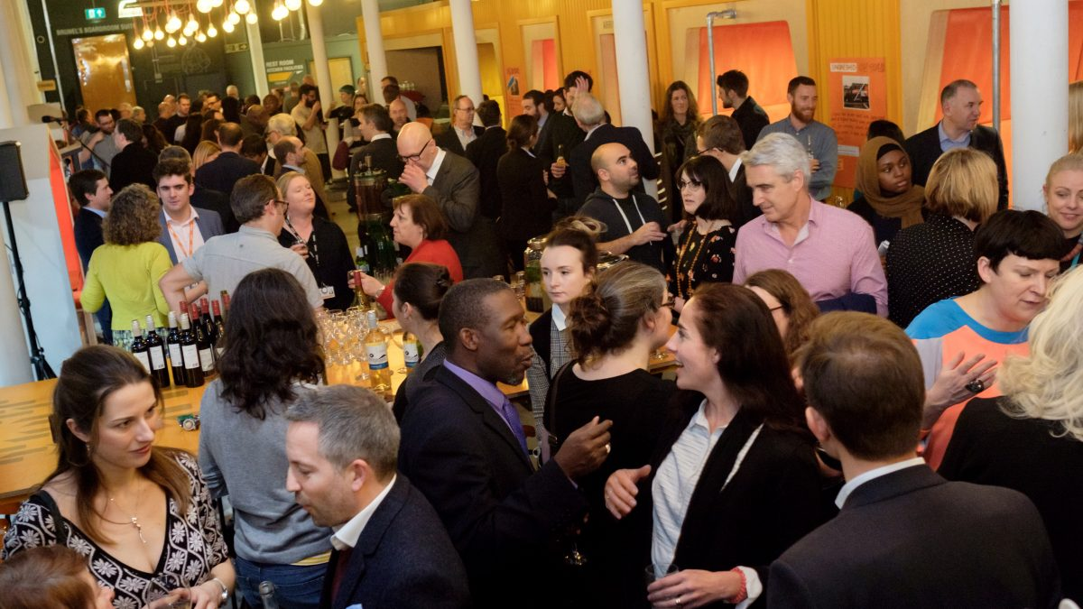 a Jon Craig photo of a networking event in Engine Shed, Bristol