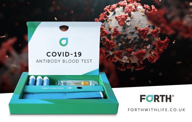 an image of Forth's antibody test kit