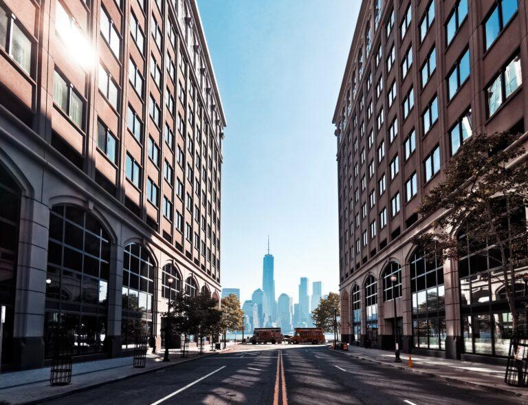 An image of an empty street