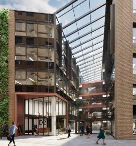 a CGI of an eco building in Bristol