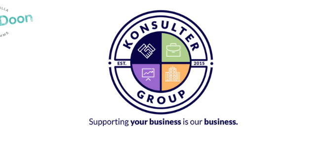 a cover photo for business support company, Konsulter Group.