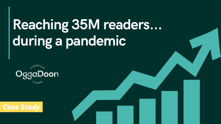 a graphic of our PR reach during a pandemic
