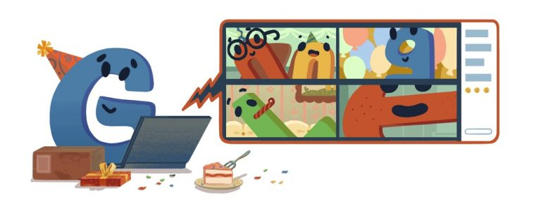 Google logo 22nd Birthday
