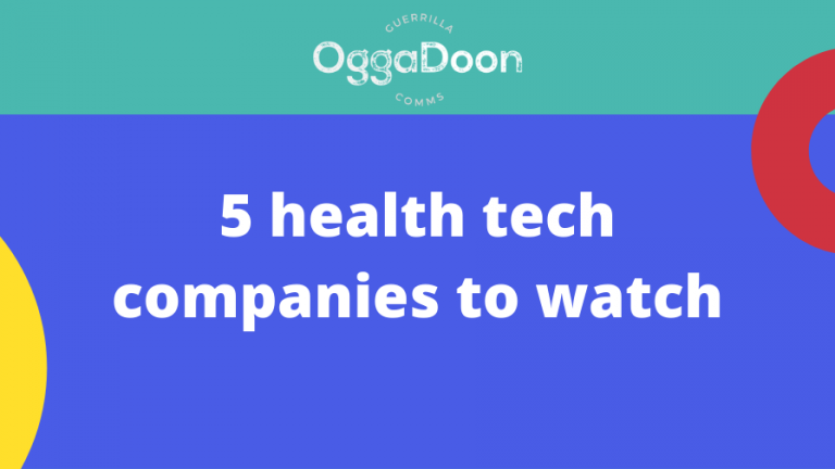 a graphic about health tech companies to watch