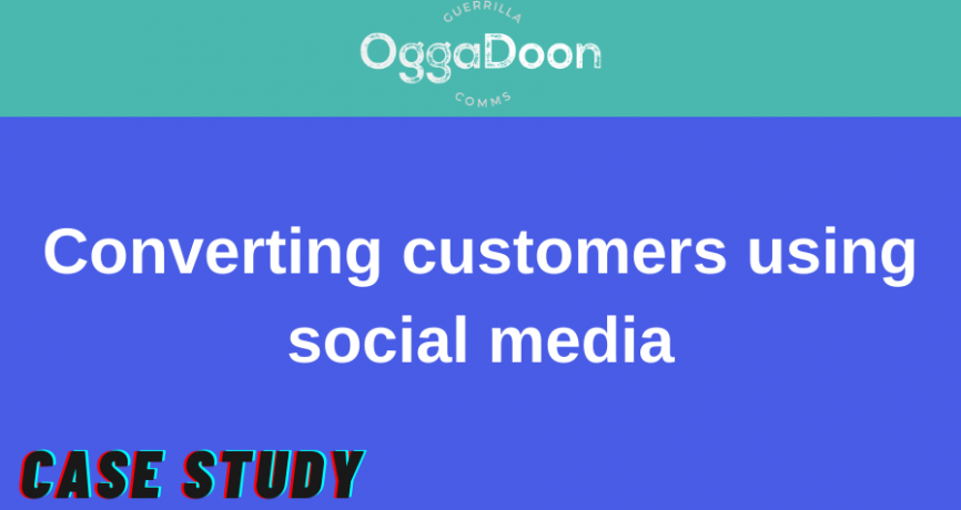 an image reading 'converting customers using social media'