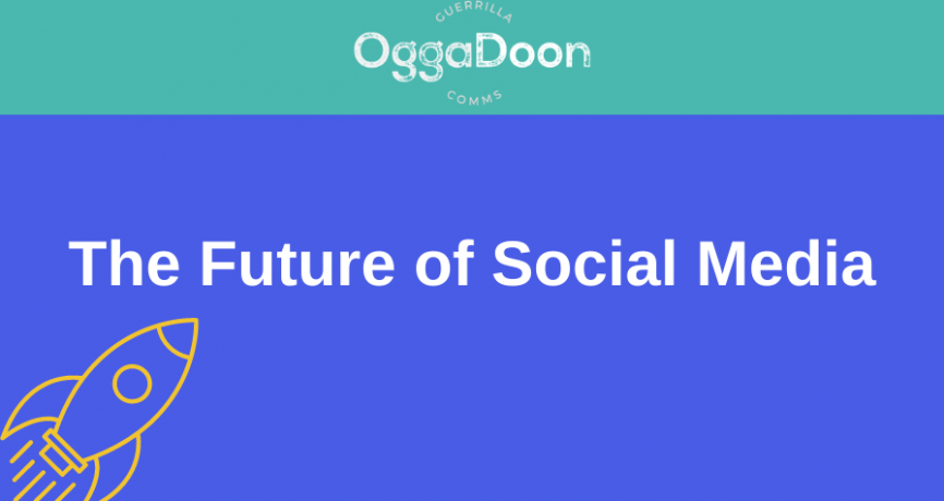 A graphic for the future of social media blog